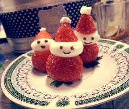 超简单草莓圣诞老人