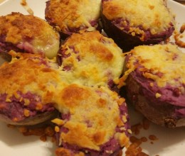 咪姆的马苏里拉芝士焗紫薯