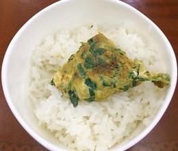 快手下饭菜-蛋煎香花菜(薄荷叶)
