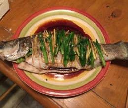 五种材料蒸鲈鱼!