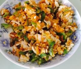 青椒炒咸蛋黄