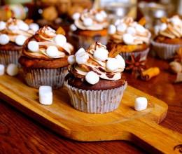 【挑动味蕾】香料棉花糖热可可杯子蛋糕