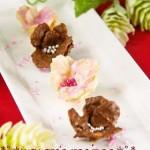 情人节巧克力花♡简单的花朵巧克力❀