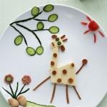 吃好玩好,可爱的长颈鹿早餐