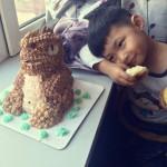西瓜的第一个恐龙蛋糕