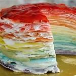 彩虹鲜奶可丽饼千层蛋糕