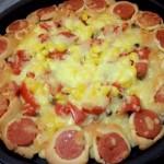 火腿花边披萨。