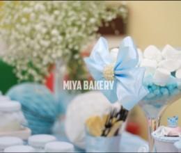 蓝色主题甜品桌