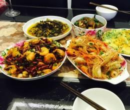 一虾两吃(青虾/罗氏虾)香辣虾尾、椒盐虾头