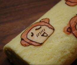 手绘卡通蛋糕卷(猴哥蛋糕卷)