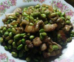 毛豆榨菜炒肉丁