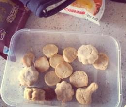 高筋粉做的小饼干 可做多种口味