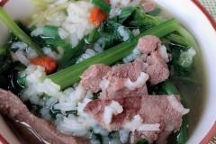 猪肝菠菜维B粥