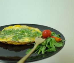 Gruyère and Watercress Omelette 库耶尔豆瓣菜煎蛋