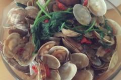 小米椒炒花蛤