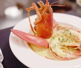 龙虾冷盘佐藏红花火腿奶油酱