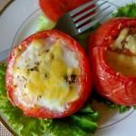 芝士番茄焗蛋