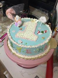生日蛋糕 图解/2.小糖人和装饰之前都买好的,一开始最担心裱画出个什么鬼,没...