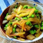 榨菜毛豆炒瓜皮