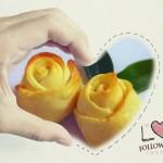 黄玫瑰花面包
