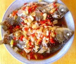 清蒸蒜香鲫鱼