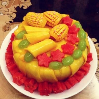 纯西瓜水果蛋糕