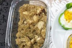 减脂期早饭(香菇鸡胸藜麦饭)