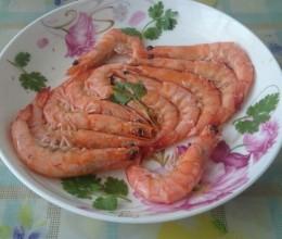 3min微波炉烤虾
