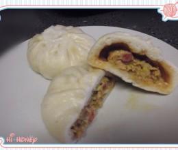 芹菜虾仁腊肉包