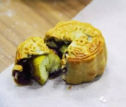 紫薯板栗3D月饼