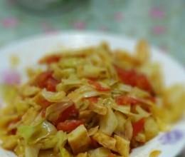 花白柿子炒饼