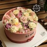 韩式裱花 花盒蛋糕