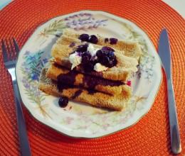 一人早餐-无油的燕麦粉可丽饼
