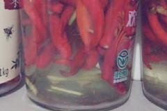 腌制新鲜红辣椒
