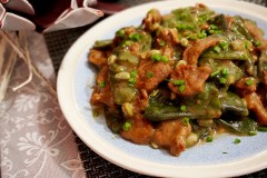 牛肉炒扁豆 扁豆 扁豆