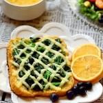 奶酪菠菜芝麻粉土司