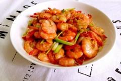酱油爆鲜虾