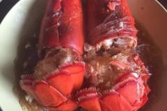 蒜蓉蒸龙虾配龙虾粥