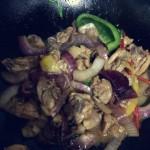洋蔥彩椒炒雞