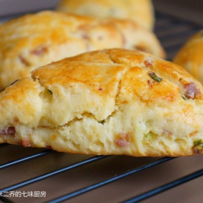 香葱云腿咸司康scones