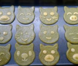 小动物抹茶饼干