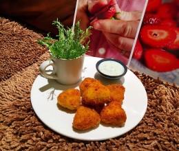 【土豆芹菜饼】+【香菜酸奶沙拉酱】
