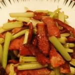 培根炒芹菜