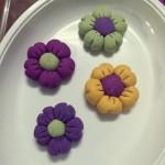 彩色花朵汤圆