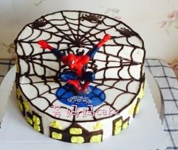 蜘蛛侠错层蛋糕