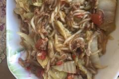 瘦肉白菜炒粉条