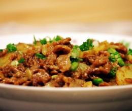 土豆羊肉片