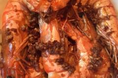 姜蒜爆海虾