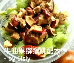 牛油果猕猴桃配大红枣