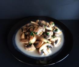 炒蘑菇(一勺淡奶油版)